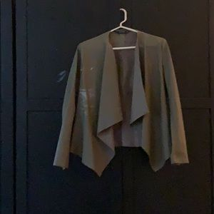 Zara Basic Green jacket.